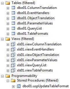 Объекты SaveToDB Framework для настройки приложений Excel